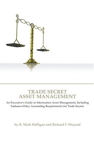 Image for Trade Secret Asset Management: An Executive's Guide to Information Asset Management, Including Sarbanes-Oxley Accounting Requirements for Trade Secrets