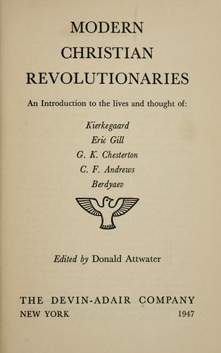Download Modern Christian revolutionaries