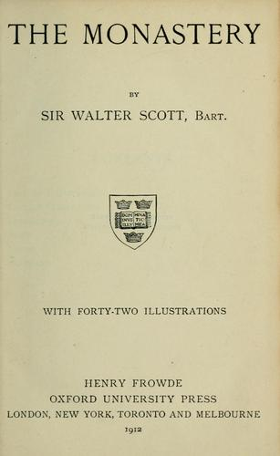 The monastery by Sir Walter Scott