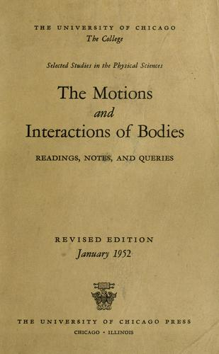 Download The motions and interactions of bodies
