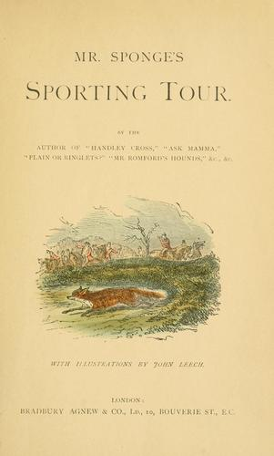 Mr. Sponge's sporting tour.