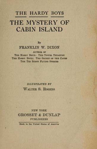 The mystery of Cabin Island by Franklin W. Dixon