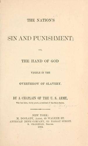 Download The nation's sin and punishment