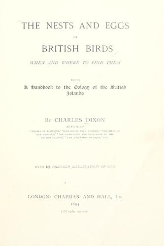 Download The nests and eggs of British birds