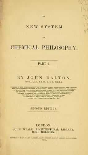 Download A new system of chemical philosophy.