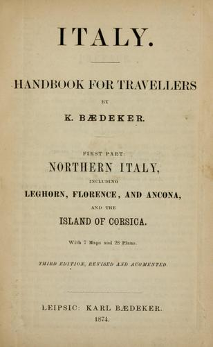 Download Italy : handbook for travellers