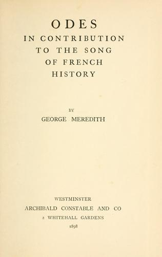 Download Odes in contribution to the song of French history.