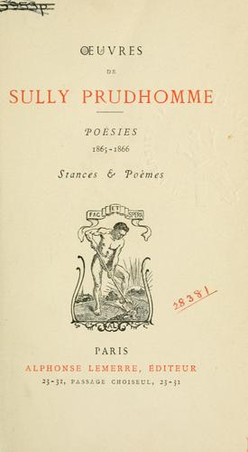 Oeuvres de Sully Prudhomme.