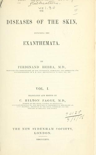 On diseases of the skin, including the exanthemata.