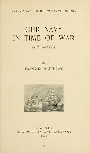 Download Our navy in time of war (1861-1898)