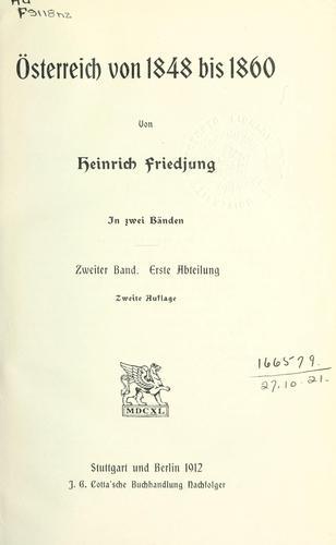 Österreich von 1848 bis 1860.