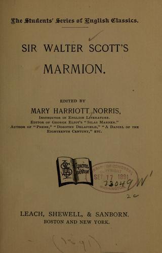 Download Sir Walter Scott's Marmion
