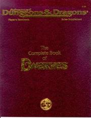 The Complete Book of Dwarves (Advanced Dungeons & Dragons Player's Handbook R...