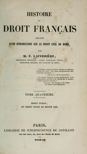 Histoire du droit francais
