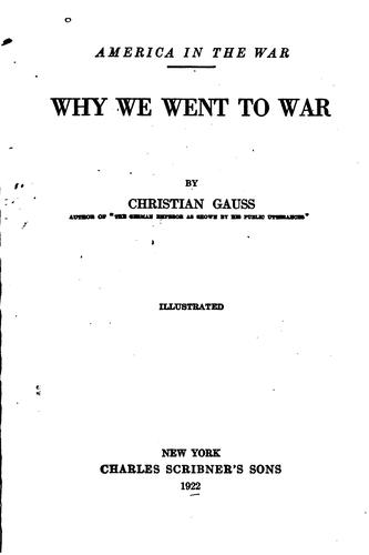 Why We Went to War