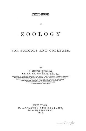 Text-book of Zoology for Schools and Colleges