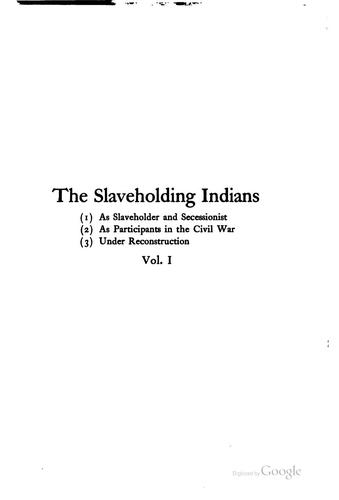 The Slaveholding Indians