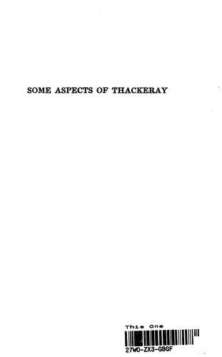Some Aspects of Thackeray