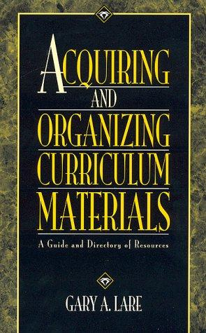 Download Acquiring and organizing curriculum materials