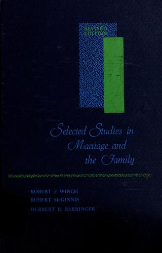 Selected studies in marriage and the family.