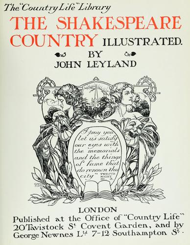 Download The Shakespeare country illustrated.