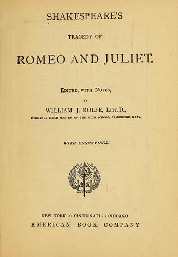 Download Shakespeare's tragedy of Romeo and Juliet.