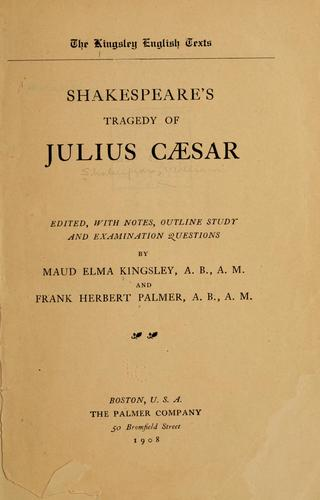 Download Shakespeare's tragedy of Julius Cæsar