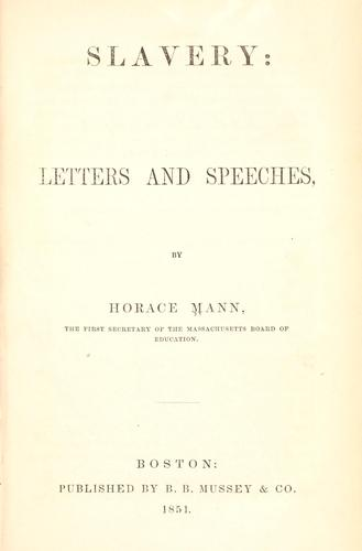Download Slavery: letters and speeches