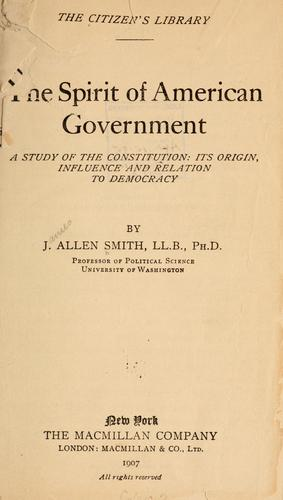 Download The spirit of American government