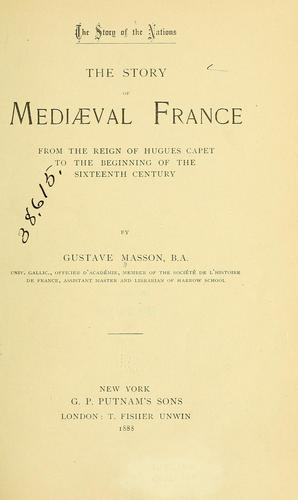 Download The story of mediæval France