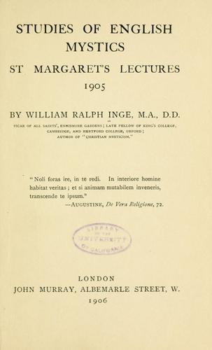 Download Studies of English mystics