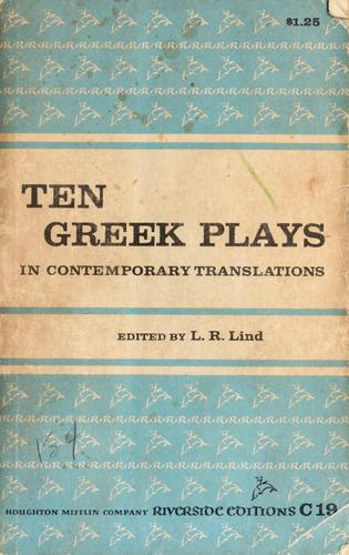 Download Ten Greek plays in contemporary translations
