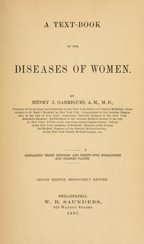 A text-book of the diseases of women.