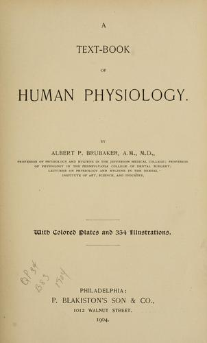A text-book of human physiology.