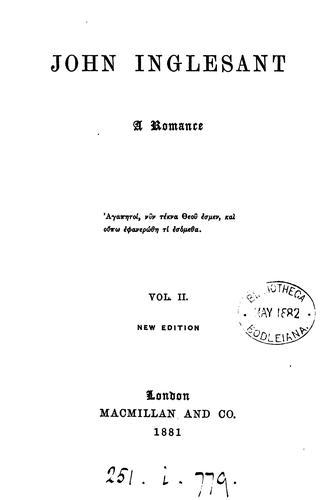 John Inglesant by J.H. Shorthouse.
