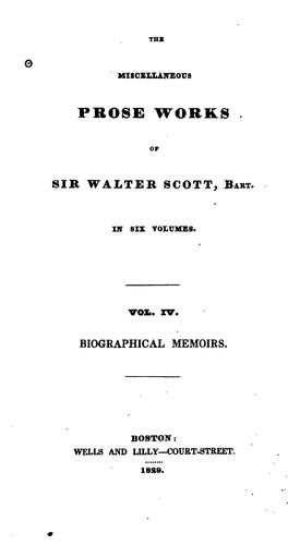 Download The Miscellaneous Prose Works of Sir Walter Scott