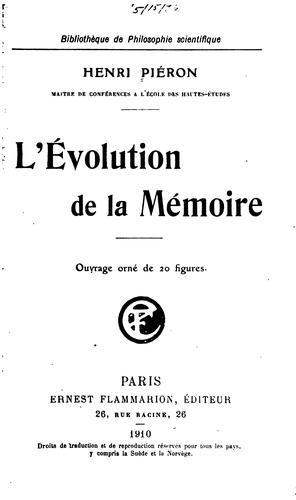 Download L'évolution de la mémoire