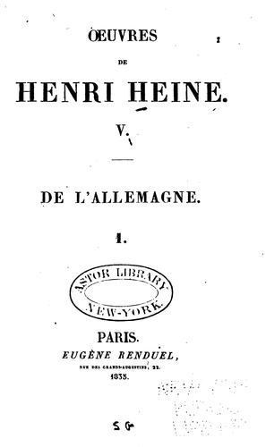 Oeuvres de Henri Heine