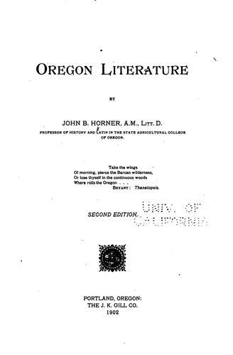 Oregon Literature