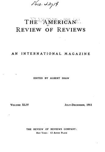 Review of Reviews and World's Work: An International Magazine