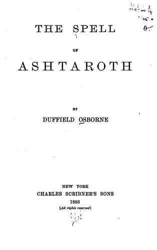The Spell of Ashtaroth