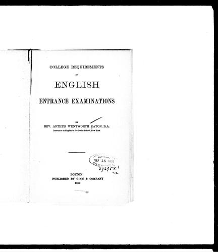 Download College requirements in English entrance examinations