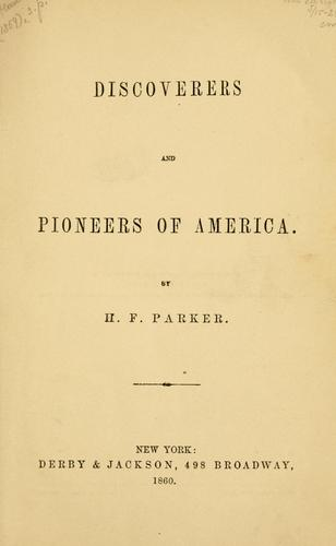 Download Discoverers and pioneers of America