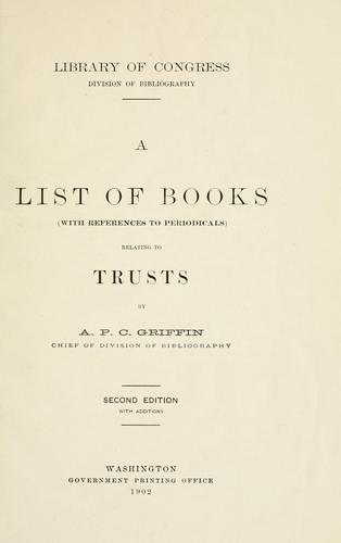 Download A list of books (with references to periodicals) relating to trusts