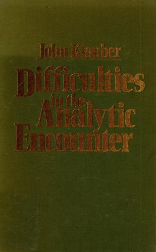 Download Difficulties in the analytic encounter