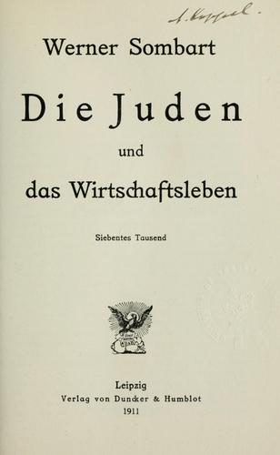 Download Die Juden und das Wirtschaftsleben.