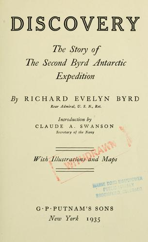 Discovery by Richard Evelyn Byrd