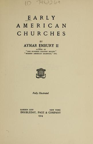 Early American churches