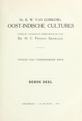 Dr. K.W. van Gorkom's Oost-Indische cultures.