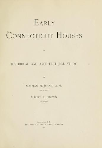 Download Early Connecticut houses